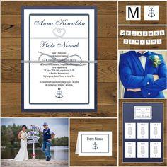 Zaproszenia ślubne z kotwicą marynistyczne