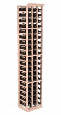 """Five Star Series: 3 Column 57 Bottle Standard Wine Cellar Rack in Redwood with White Wash Stain by Wine Racks America®. $305.43. Choose From either Pine, Redwood, or Mahogany along with optional Industry Leading Quality Eco-Friendly Stains Paired with an Immaculate Satin Finish. Each have custom finishes and are professionally stained to order, so please allow a few additional days after your purchase for your order to be shipped.. 11/16"""" wood thickness. Designed fo..."""