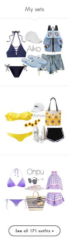 """""""My sets"""" by melissa-piv ❤ liked on Polyvore featuring Jonathan Simkhai, Heidi Klein, Candie's, Le Amonie, WithChic, Lisa Marie Fernandez, SO, Love This Life, Boohoo and Mar y Sol"""