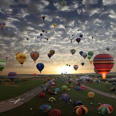 Lorraine Mondial air balloon rally, Chambley, France