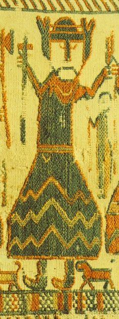 Skog Tapestry depicting Thor with hammer century CE Halsingland Sweden Norse Pagan, Old Norse, Norse Mythology, Viking Life, Viking Art, Medieval Life, Medieval Embroidery, Viking Designs, Medieval Tapestry