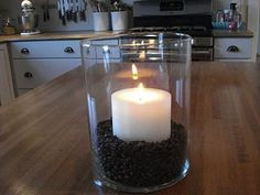Something To Do: January decorating: Grocery store style! Coffee beans and candle!  Perfect for my coffee theme kitchen!