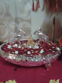 7 Housewarming Decorations, Diwali Decorations, Festival Decorations, Flower Decorations, Wedding Decorations, Silver Pooja Items, Pooja Room Door Design, Silver Lamp, India Jewelry