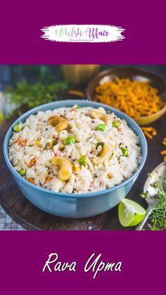 Healthy Breakfast Dishes, South Indian Breakfast Recipes, Indian Veg Recipes, Indian Dessert Recipes, Aloo Recipes, Curry Recipes, Veg Pulao Recipe, Rava Upma Recipe, Vegetarian Snacks