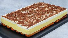 Vynikajúci krémeš bez pečenia, ktorý si zamilujete. Príprava je úplne jednoduchá a postup zvládne každý.Recept prodľa youtube hravo zvládnete.Potrebujeme:Dlhé piškóty - 150 gpráškový cukor - 30 gkakao - 30 gmlieko - 300 mlKrém: žĺtky - … Powdered Sugar, No Bake Cake, Baked Goods, Tiramisu, Cocoa, Cheesecake, Finger, Nutrition, Candy