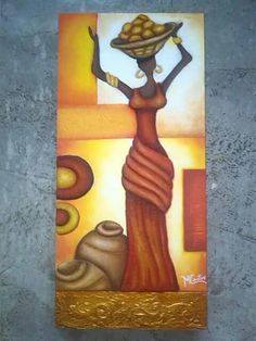 ♥ African Love, African Beauty, Africa Drawing, African Quilts, African Paintings, Queen Art, Art Africain, Africa Art, Paintings I Love