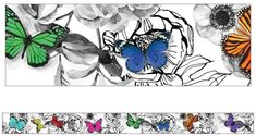 Schoolgirl Style - Woodland Whimsy BUTTERFLY Foundation Border