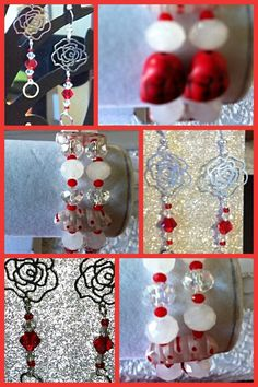Dangle Earrings and Bracelet set. 20$. PeleTani@gmail.com.   eBay.com/PeleTani7th