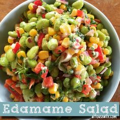 Edamame Salad Side dish tonight, June 24, 2015 Fresh and delicious summer said good for all kinds of meats and fish