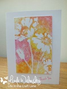Life in the Craft Lane : Use a stencil ... for Less is More