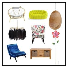 """""""in my square"""" by memowitta on Polyvore featuring interior, interiors, interior design, home, home decor, interior decorating, Threshold, Sika, Armen Living and Mineheart"""