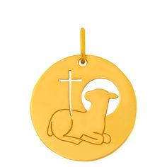 Médaille de baptême Agneau Pascal