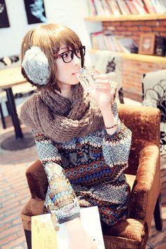yuria: fi - イヤーマフに眼鏡で可愛いオシャレ女子