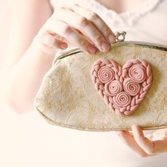 vintage heart purse