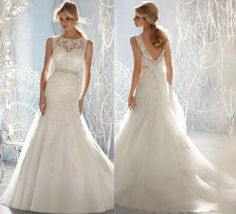 New white / ivory Wedding Dress Lace applique by MALLECNDRESS, $169.00