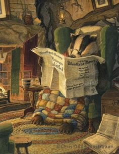 "Chris Dunn Illustration/Fine Art: Gallery - Badger from ""Wind in the Willows,"" an all-time favorite story of mine."