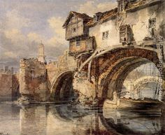 Welsh bridge, Turner. Shrewsbury, Shropshire