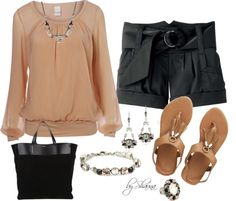 """classy shorts outfit"" by shauna-rogers on Polyvore"