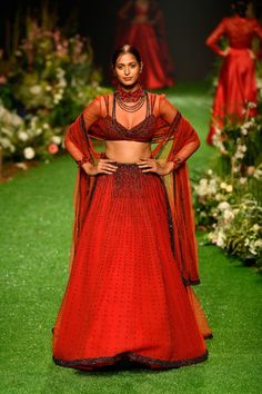 Yellow Lehenga, Lakme Fashion Week, Fashion Weeks, Vogue India, Sheer Dress, Designer Dresses, Runway, Sari, Indian