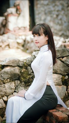 Bella chica de Vietnam.