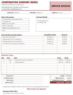 printable roofing estimate sheet | roofing forms | projects to try, Invoice templates