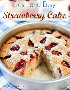 Easy Strawberry Cake! – Laughing Spatula