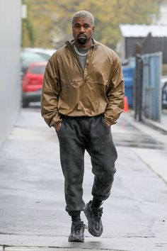 9a3c9759a50 Kanye West wearing Adidas Yeezy 500 Utility Black