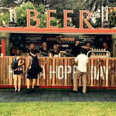 60 Unique Beer Garden Design - Everyone requires a room to call their own. If placing directly in the garden it ought to be simple to dig a room to set the containers into. by Joey Container Restaurant, Container Cafe, Bar Restaurant, Container Design, Restaurant Design, Container Gardening, Container Buildings, Container Architecture, Architecture Design