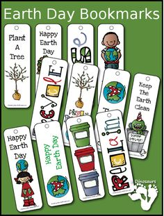Here is a FREE set of Earth Day Bookmarks. These are a fun way to celebrate Earth Day and have some fun reading.    Need more freebies?