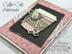 Join me in my craft room today and learn how to create these absolutely gorgeous Coffee Café note cards featuring Stampin Up's Coffee Café Bundle! Coffee Cards, Coffee Gifts, Coffee Drinks, Coffee Cup, Hot Coffee, Espresso Coffee, Ninja Coffee, Cheap Coffee, Funny Coffee