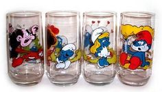 Smurf Glasses Hardees 1982 Smurf Glasses Complete set of Hardees 1982 Smurf Glasses - Smurfs Gallery My Childhood Memories, Childhood Toys, Great Memories, Baby Mine, 80s Kids, I Remember When, Oldies But Goodies, Ol Days, Good Ole