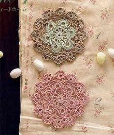 Crochet Knitting Handicraft: unit flower illustration