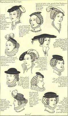 ca. 1500 (Fr.) fashion Pinterest Medieval hats