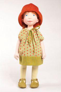 Jade handmade cloth doll by AldegondeCeelen on Etsy