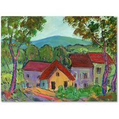 Trademark Fine Art Rainbow Home Canvas Art by Manor Shadian, Size: 18 x 24, Multicolor