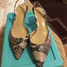 Talbots leather shoes Worn once! Excellent condition & just beautiful.  Talbots Shoes