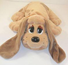 "Pound Puppies Tan Brown 19997 Galoob Plush Stuffed Dog 15"" Puppy Red Collar"