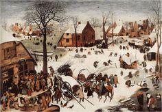 The Numbering at Bethlehem, by Pieter th elder Brueghel