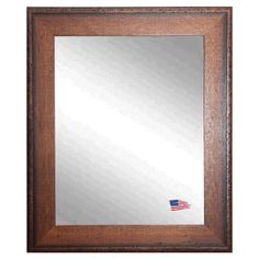 Timber Woods Wall Mirror - Classic American craftsman design and a riveted trim give the Timber Woods Wall Mirror its handsome design aesthetic. This handcrafted frame surrounds...
