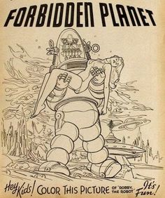 Robby the Robot coloring page.