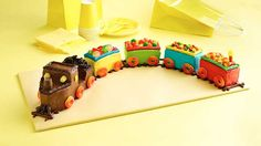 All aboard! Make a fun train cake that is right on track with help from Betty Crocker.