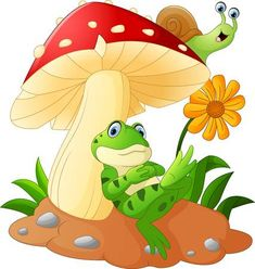 Find Cute Frog Snail Cartoon Mushroom stock images in HD and millions of other royalty-free stock photos, illustrations and vectors in the Shutterstock collection. Thousands of new, high-quality pictures added every day. Cartoon Cartoon, Snail Cartoon, Cartoon Images, Cartoon Drawings, Cartoon Mushroom, Frog Drawing, Frog Pictures, Mushroom Art, Mushroom Stock