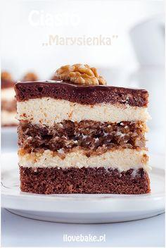 Cake Marysieńka - I Love Bake Polish Desserts, Blueberry Cheesecake, Food Cakes, Tiramisu, Sushi, Cake Recipes, Cooking Recipes, Cupcakes, Sweets