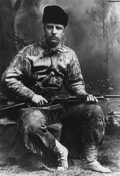 Teddy Roosevelt as a young man. Quite possibly America's finest, most badass President.