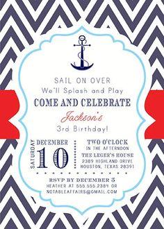 Nautical First Birthday Invitation | Birthdays