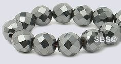 High Power Magnetic Hematite 8mm Faceted AAA Grade. More sizes available. Visit our site for more information.