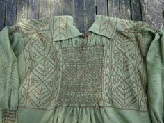 Woodman's smock made for Winwood Reade by Mrs Andrews of Dorset 9.8.14