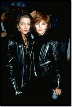 """In this photo taken in 1992, the Presley girls, Lisa Marie and her mother Priscilla are rocking the leather jackets. In an interview with Playboy magazine, Lisa Marie said her mother kept a close eye on her. """"She watched me closely,"""" said Lisa Marie. """"After I read her book, I realized why. She'd done things that weren't what your average 14-year-old would do. And I was doing the exact same things."""" In that same interview, Lisa Marie said she was in a """"destructo mode,"""" and her drug phase…"""