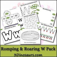 Free Romping & Roaring W Pack - 3Dinosaurs.com
