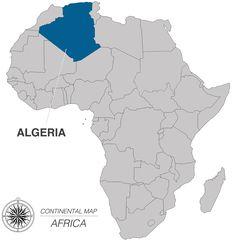 Algeria Flag Map  Mapsofnet  ALGERIA  Pinterest  Flags and Africa